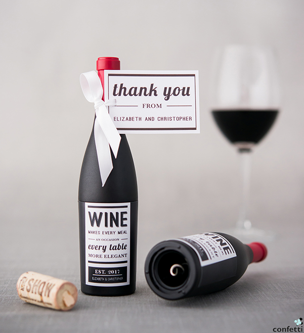 Wine Bottle Shaped Corkscrew Opener In Gift Packaging  | Confetti.co.uk