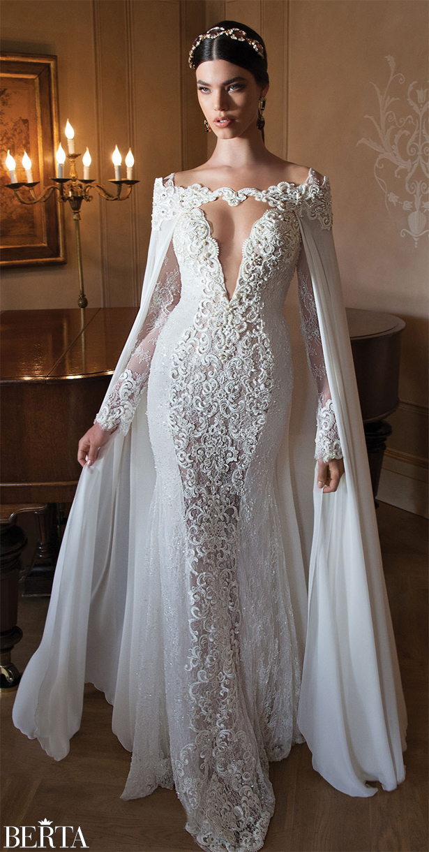 Long Sleeved Wedding Dresses For Autumn And Winter