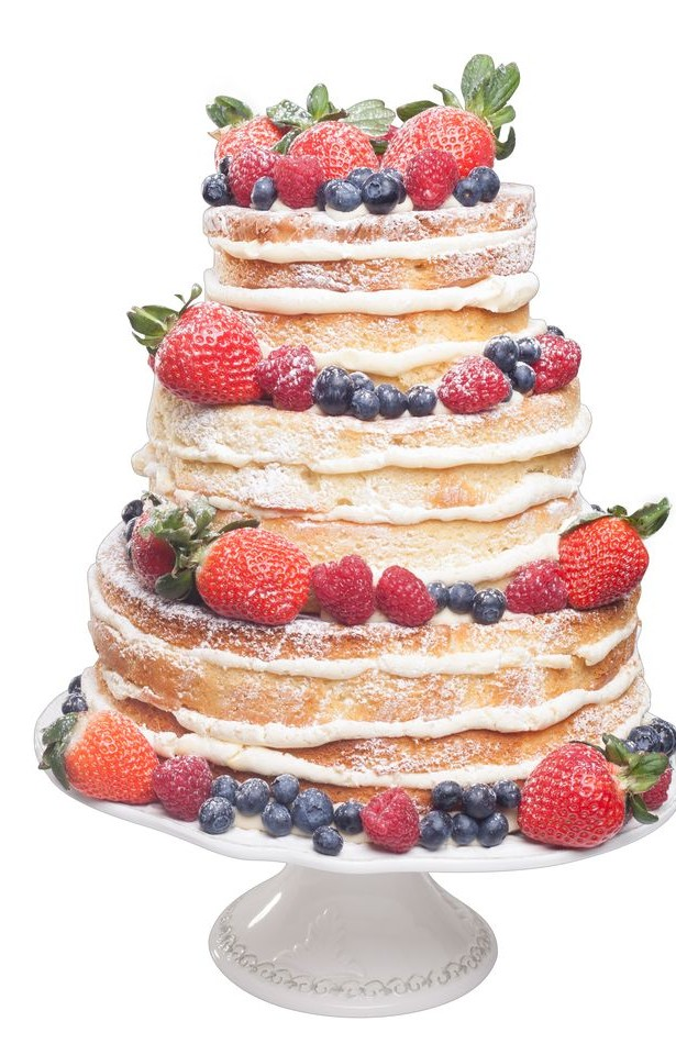 A fruity naked wedding cake | Confetti.co.uk