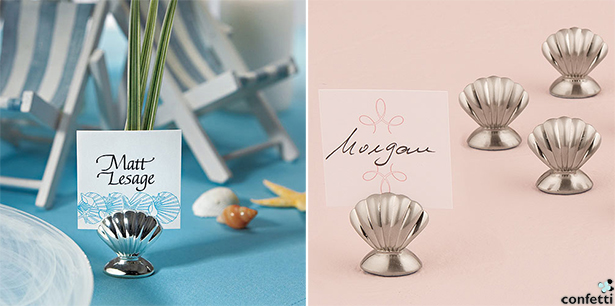 Beach Wedding Place Card Holders | Confetti.co.uk