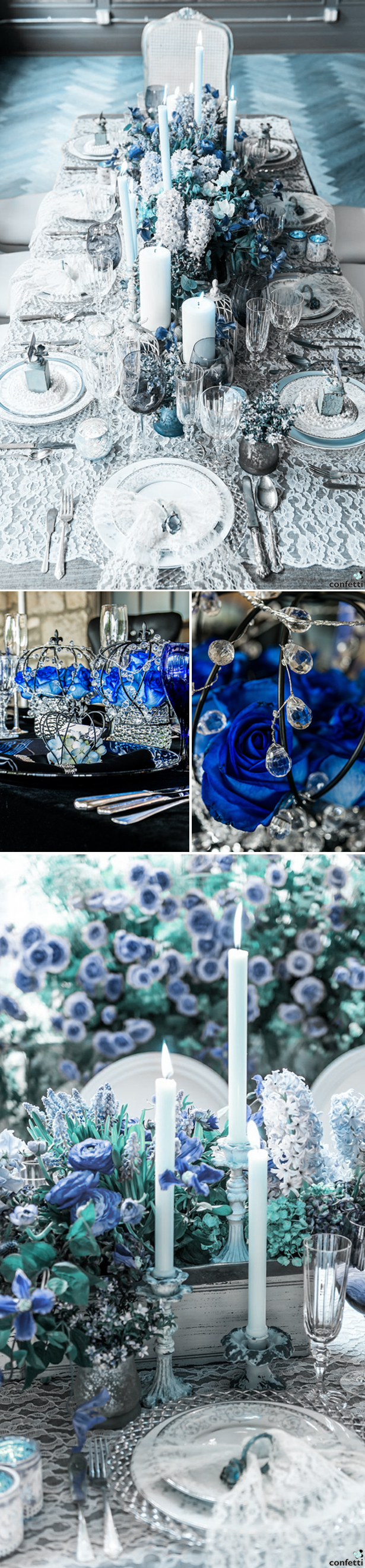 Blue Winter Wedding | Confetti.co.uk