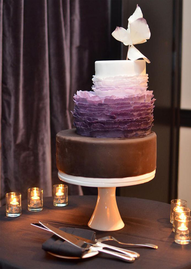 Circular Wedding Cake On A Stairs