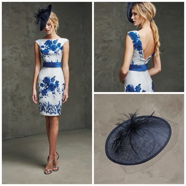 Navy hat by Pronovias | Confetti.co.uk