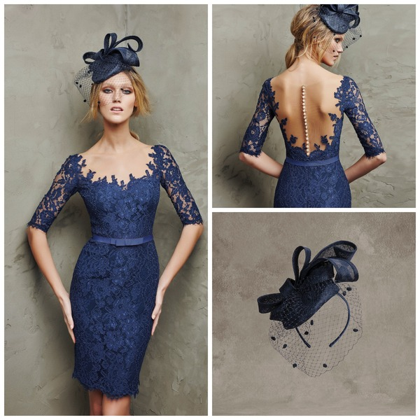 Navy fascinator by Pronovias | Confetti.co.uk