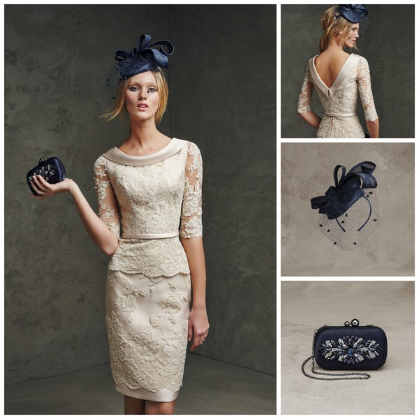 Navy blue fascinator by Pronovias | Confetti.co.uk