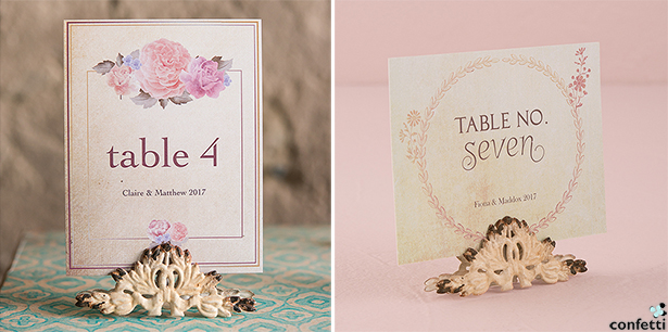 Shabby Chic Wedding Place Card Holders | Confetti.co.uk