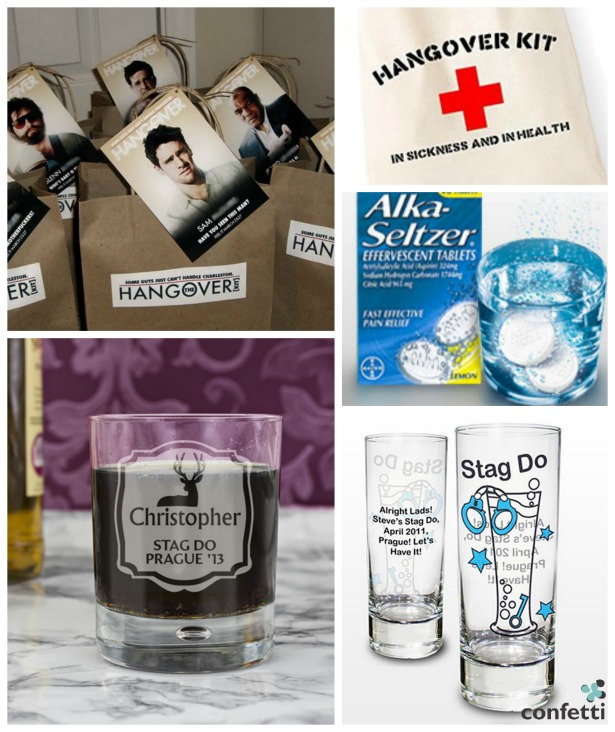 Stag do hangover kit | Confetti.co.uk