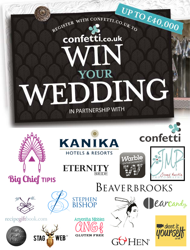 Win Your Wedding 2015 prize package | Confetti.co.uk