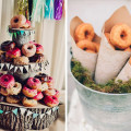 Donut alternative wedding cake