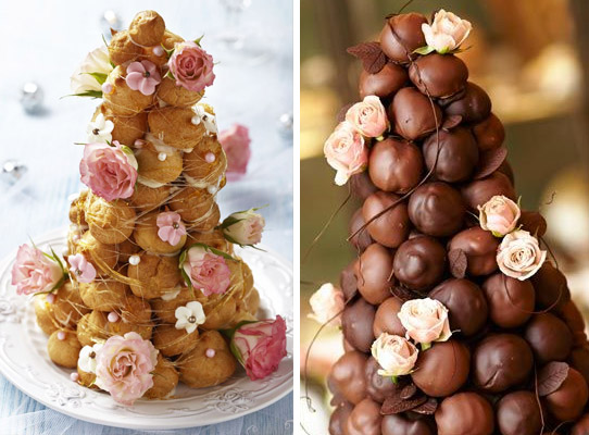Profiteroles Tower Alternative Wedding Cake