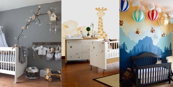 Baby girl and baby boy nursery ideas for Baby room decorating ideas uk