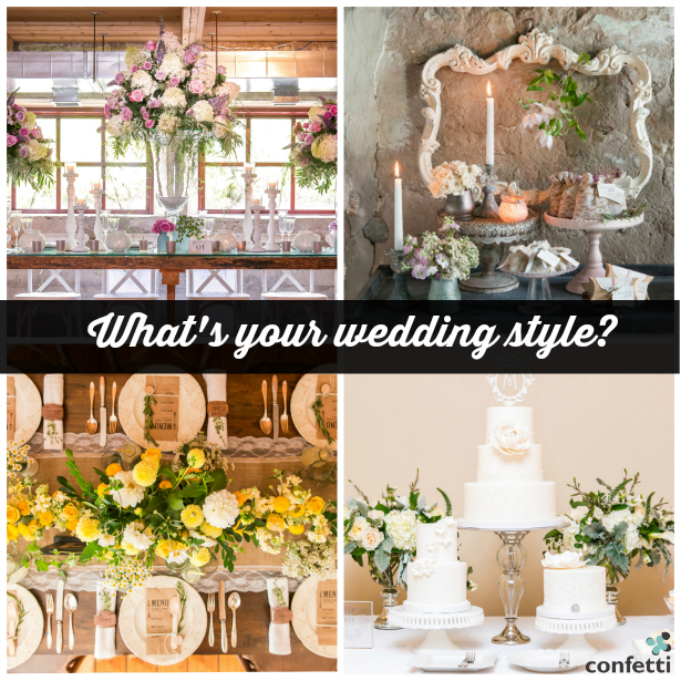 Take this 10 question quiz to discover your wedding style | Confetti.co.uk
