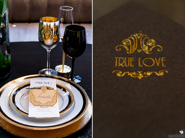 Black and Gold Tablescape | Confetti.co.uk