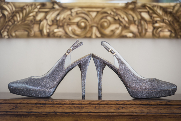 The shoes, Fernanda and Toby's real wedding