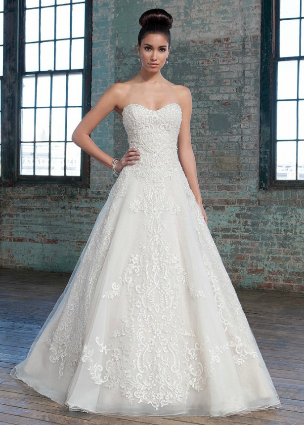 Wedding Dresses For   On   U K : Collection by justin alexander a line wedding dress confetti