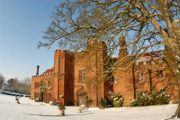 Leez Priory Essex wedding venue in the snow | Confetti.co.uk