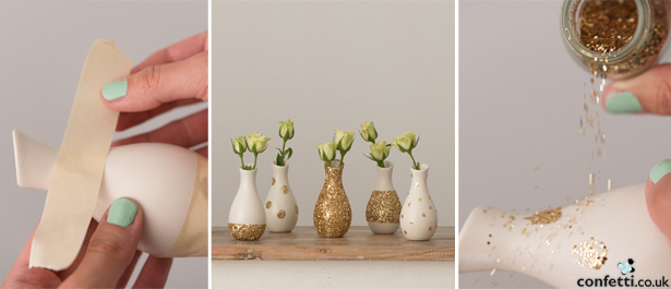 Glitter Vases | Confetti.co.uk