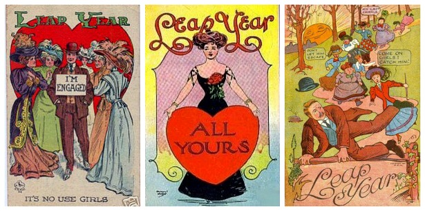 Vintage leap year postcards |Confetti.co.uk
