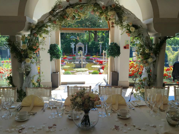 The Medici Suite all set for a wedding at The Italian Villa in Poole, Dorset | Confetti.co.uk