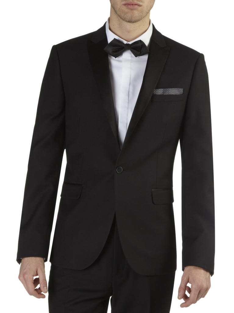 Slim fit tuxedo jacket courtesy of Burton | Confetti.co.uk