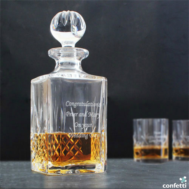 Personalised Crystal Decanter | Confetti.co.uk