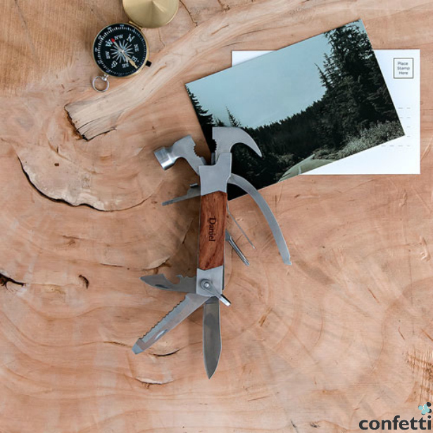 Rose Wood Handle Hammer Multi-tool | Confetti.co.uk
