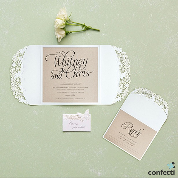 Embossed floral elegance invitation | Confetti.co.uk