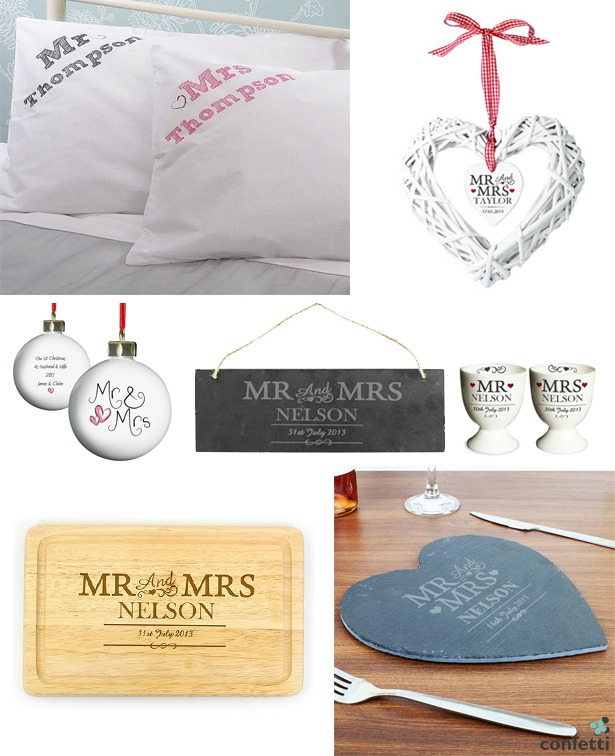 Mr And Mrs Wedding Gifts
