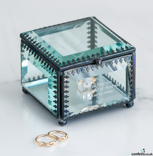 Glass Jewellery Box | Confetti.co.uk