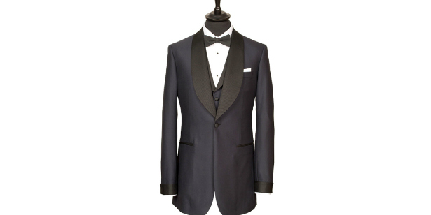 Dinner suit jacket courtesy of King & Allen | Confetti.co.uk