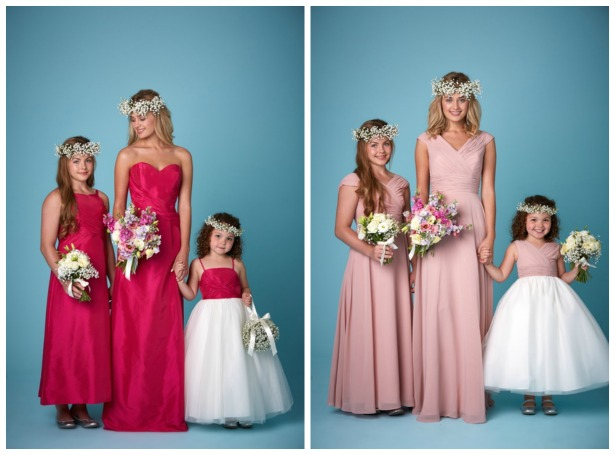Pink bridesmaid dresses by Amanda Wyatt | Confetti.co.uk