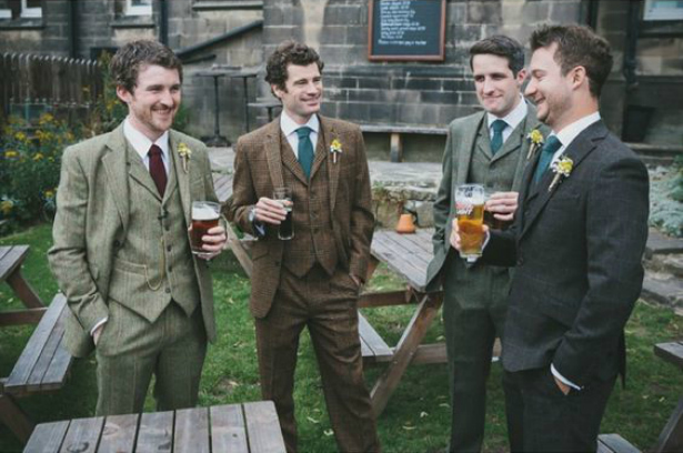 The touch of tweed groomsmen look | Confetti.co.uk