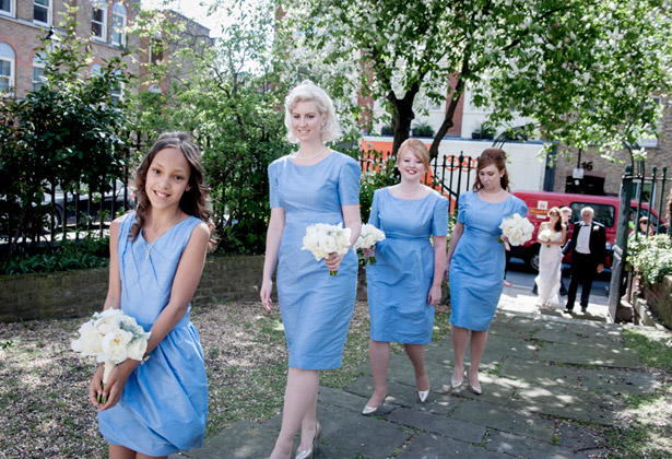 Blue Homemade Bridesmaid Dresses | Confetti.co.uk