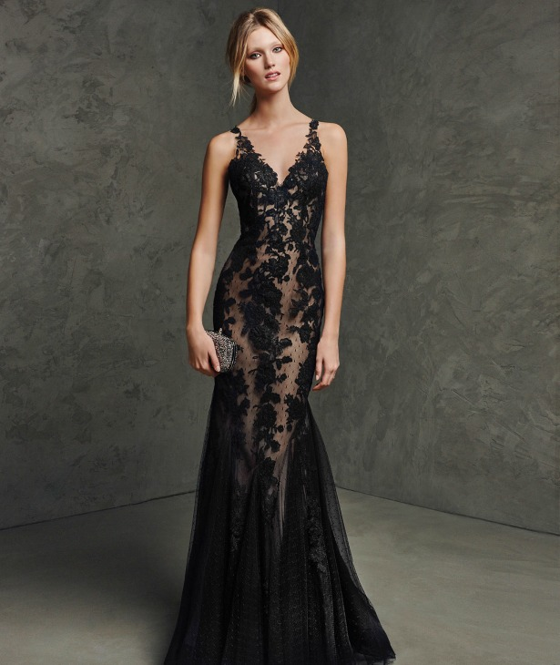 Black dress by Pronovias  | Confetti.co.uk