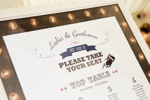 Vicki and Ben's funfair wedding table planner | Confetti.co.uk