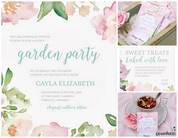 Garden Wedding Invitations: Summer Wedding Invitations