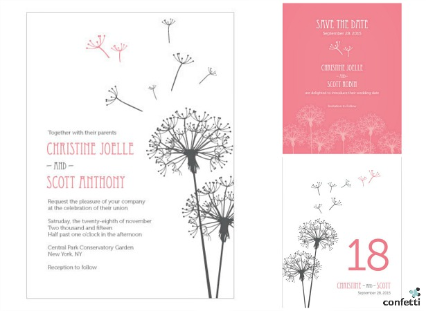 Dandelion Wishes invitations  | Confetti.co.uk