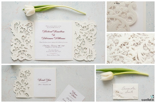 Lace Opulence invitations | Confetti.co.uk