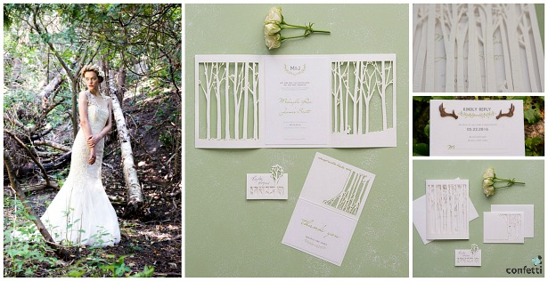 Woodland Pretty invitations | Confetti.co.uk
