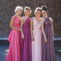Pink mulitway bridesmaids dresses in different shades | Confetti.co.uk