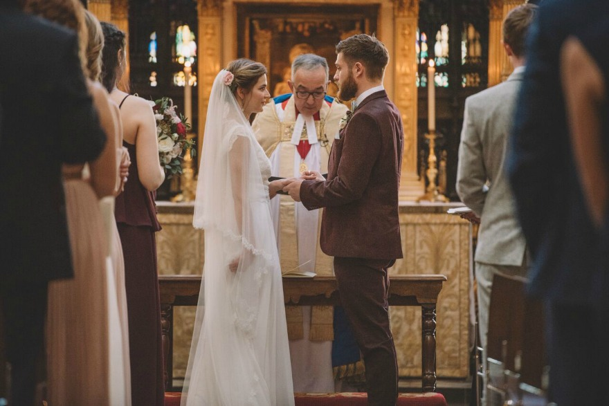 Bridesmaids duties at Kristina and Max's wedding at Westminster Abbey | Confetti.co.uk