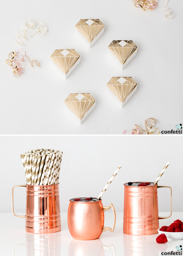 Metallic Favours and Gifts | Confetti.co.uk