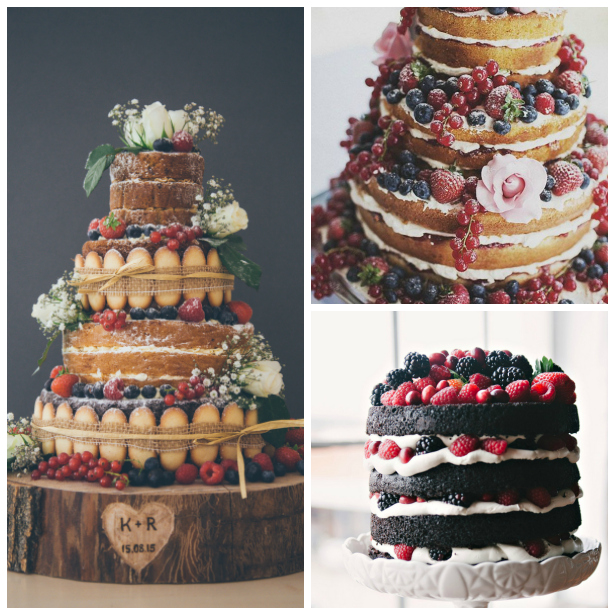 Rustic naked wedding cakes | Confetti.co.uk