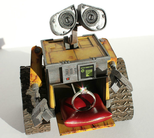 Wall-e Ring Box | Confetti.co.uk