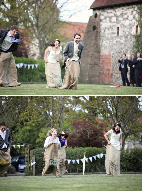 Sack race entertainment for vintage weddings | Confetti.co.uk