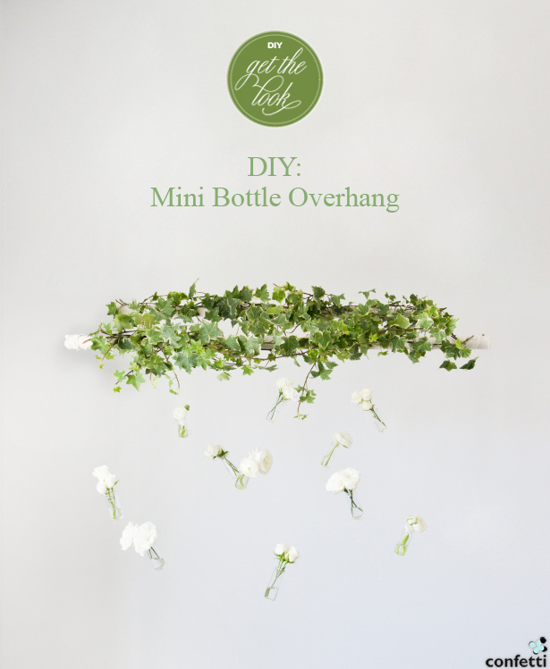 DIY Mini Bottle Overhang | Confetti.co.uk