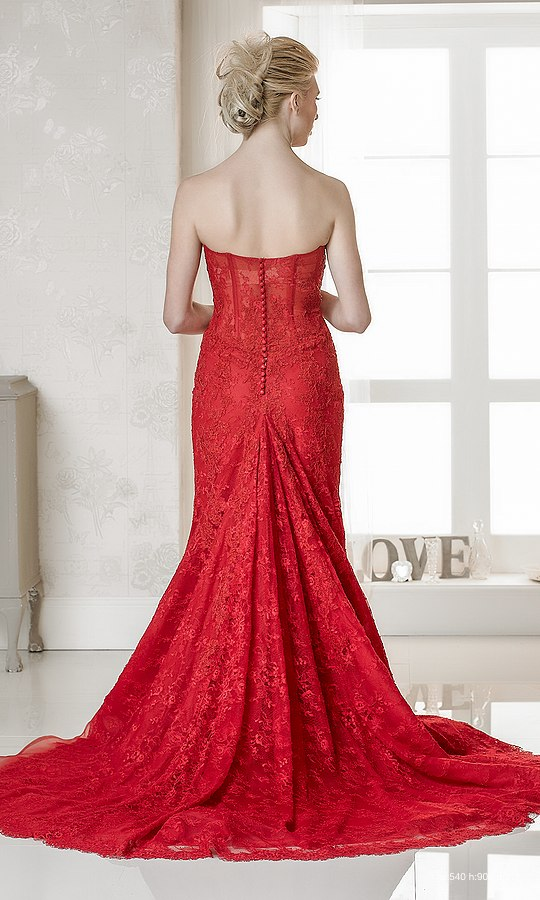 Red Wedding Dress Cherry by Rosa Couture | Confetti.co.uk