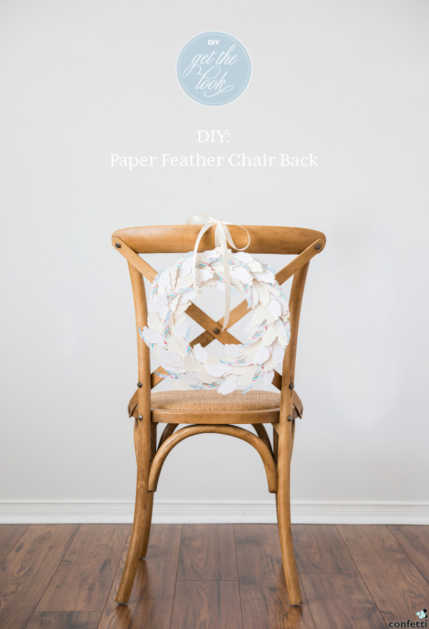 Boho Feather Chair Back | Confetti.co.uk