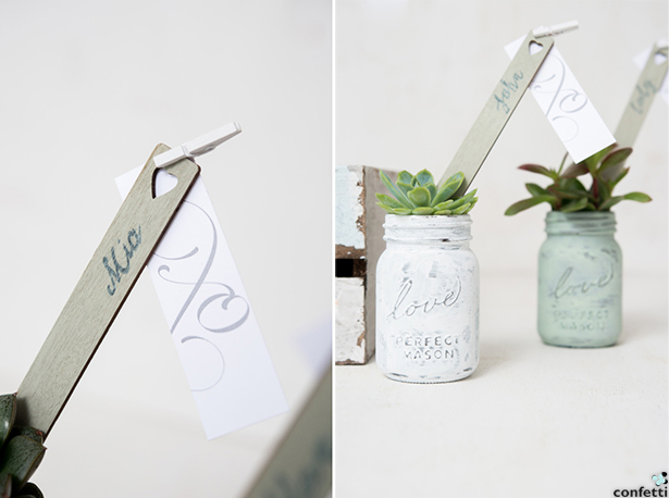 Succulent Mason Jars | Confetti.co.uk