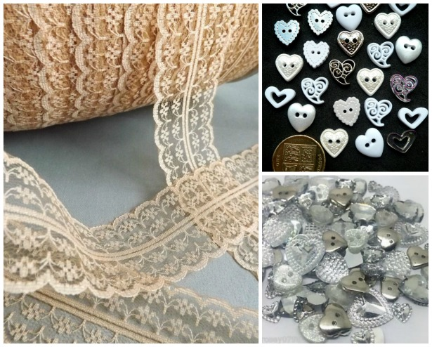 DIY buttons and lace | Confetti.co.uk